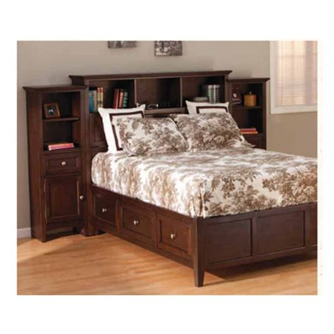 bookcase storage bed generations home furnishings