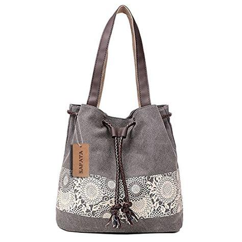 schöne eigenschaften safata damen handtasche canvas schultertasche