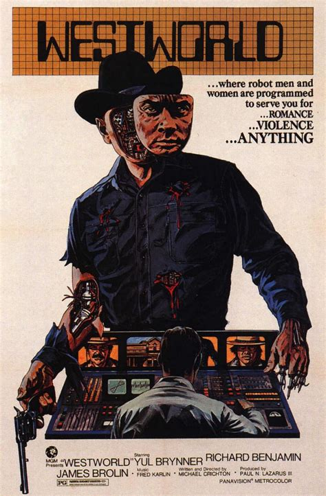 film cowboy robot geek school westworld 1973