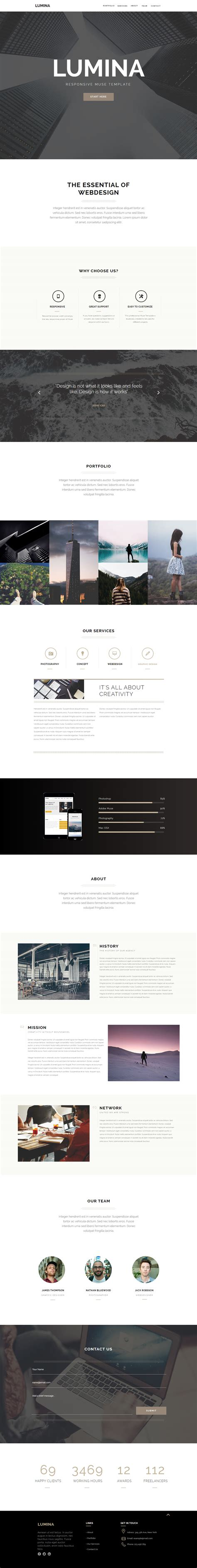 free responsive muse templates 15 best one page muse templates 2017 responsive miracle