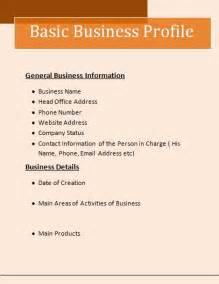 company templates business profile template free word templates
