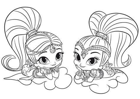 little charmers coloring pages nick jr shimmer and shine coloring pages best coloring pages for
