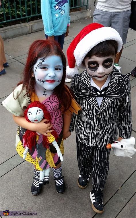 jack  sally kids halloween costumes