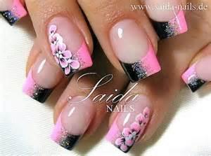 love this pink and black nail design nail frenzy