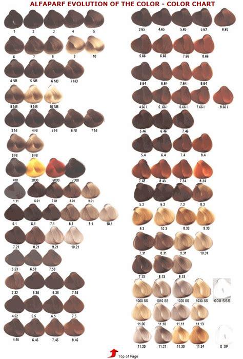 alfaparf milano hair color chart alfaparf milano evolution of the color