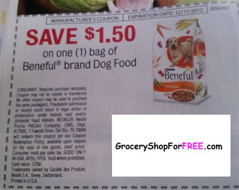 dog food coupons walmart free beneful dog food 50 money maker grocery shop