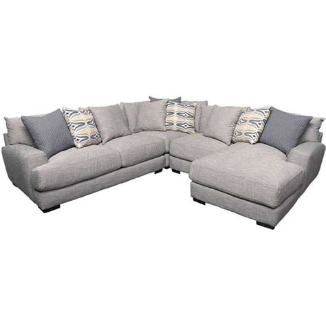 raf chaise sectional barton 4pc sectional with raf chaise g 808rc 4pc 80860