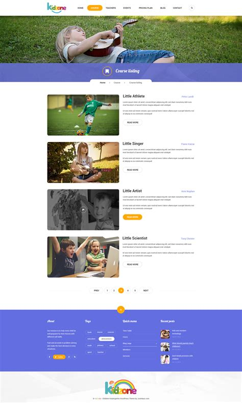 themeforest psd kidzone primary school for children psd by yolopsd