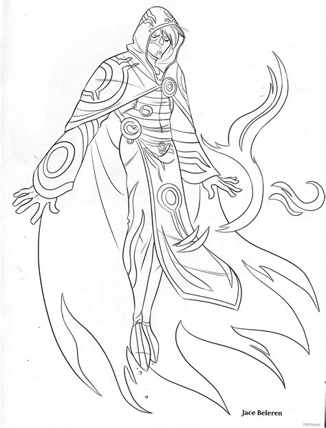 coloring book of magic free coloring pages of magic the gathering