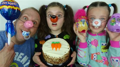 Ideas For Easter messy bad baby cake in face easter candy challenge toy