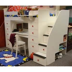 Bunk Bed With Storage Stairs Home And Furniture Gallery Bunk Beds With Stairs For Safety And Storage