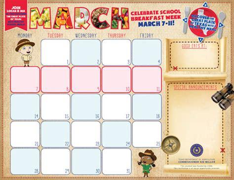 november snack calendar template f n menu calendar templates