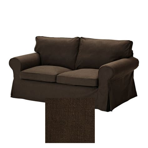 ikea ektorp 2 seat loveseat sofa slipcover cover svanby brown