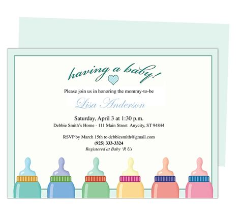 baby bottle invitation template 42 best images about baby shower invitation templates on