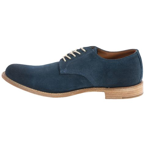 vintage shoe company rockwell blue suede shoes for