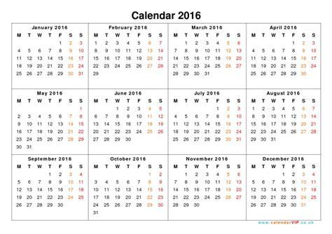 printable uk calendar 2016 with holidays calendar 2016 printable one page w holidays calendar