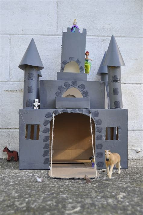 How To Make A Castle Out Of Cardboard And Paper - how to make a box castle out of a cardboard box