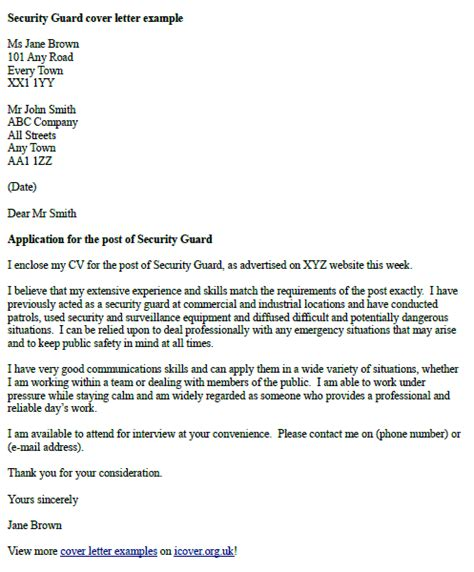 Homeland Security Guard Cover Letter by Cover Letter For Security Officer 2014 Security Guards Companies