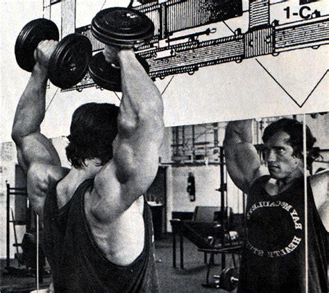 arnold schwarzenegger bench press workout beast motivation arnold schwarzenegger shoulders workout
