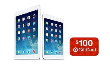 Free Target Gift Card With Purchase - free 100 target gift card with purchase of apple ipad air free shipping at target