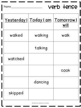 verb pattern lead verb activities and practice verb tenses worksheets and