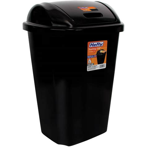 Kitchen Trash Can 13 Gallon by Hefty Swing Lid 13 5 Gallon Trash Can Black Waste Basket