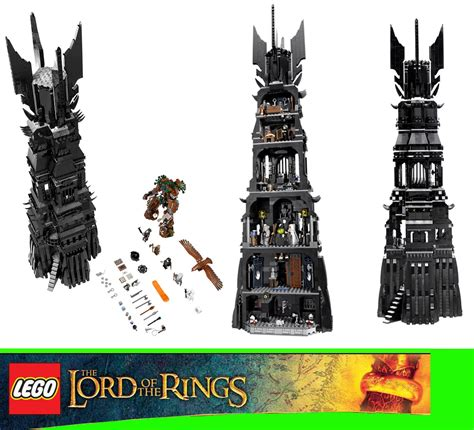 Lego The Lord Of The Rings 10237 Tower Of Orthanc lego lord of the rings 10237 the tower of orthanc 2359 pieces ebay