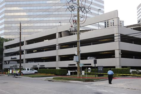 houston galleria map parking part of parking garage collapses in galleria area