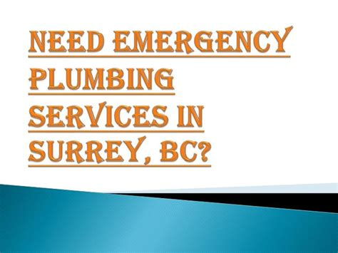 Surrey Plumbing Services by Ppt Necessity Of Emergency Plumbing Services In Surrey Bc Powerpoint Presentation Id 7405362
