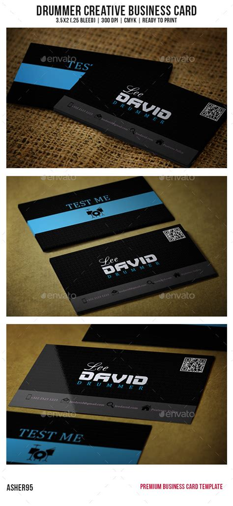 drummer business card templates drummer creative business card by asher95 graphicriver