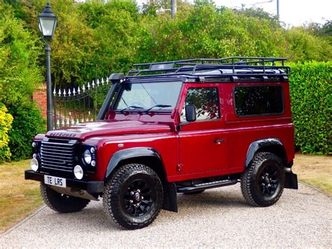 red land rover defender used red land rover defender for sale essex