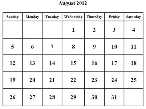 august 2012 calendar template calendar 2012