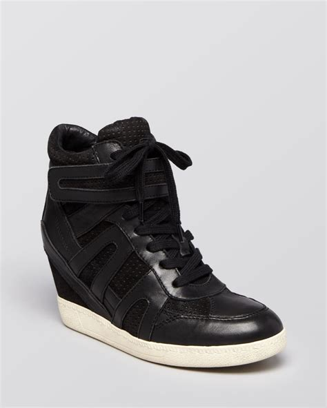 lace up wedge sneakers ash lace up wedge sneakers beck bis in black lyst
