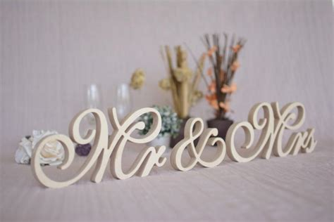 mr and mrs sign for table mr mrs table signs wedding signs mr mrs set top table mr
