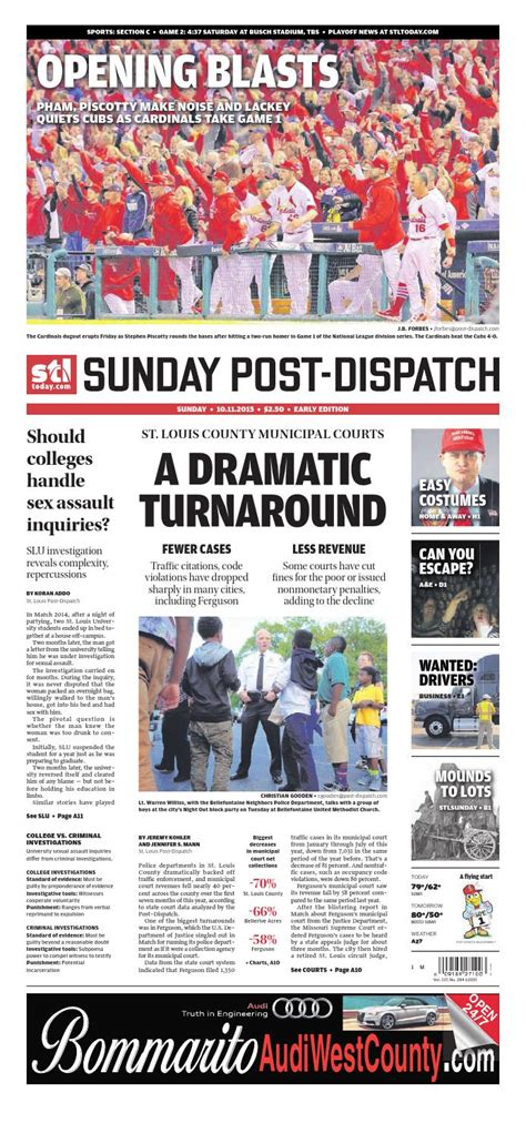 st louis post dispatch sports section 10 11 15 by stltoday com issuu