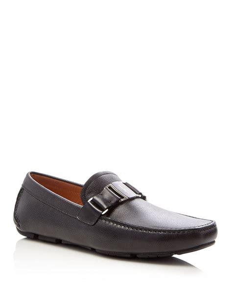 womens ferragamo loafers ferragamo leather loafers in black for lyst