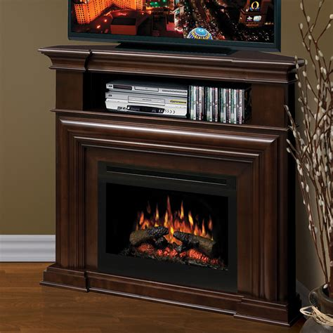 Elecric Fireplace by Dimplex Montgomery Espresso Corner Electric Fireplace