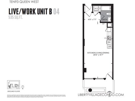 live work floor plans ten93 queen west pre construction condo liberty village