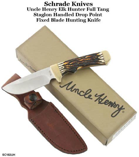 schrade buck knife schrade knives the 182uh henry elk tang