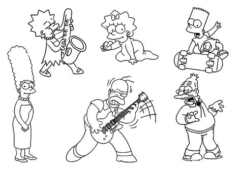 the simpsons coloring pages free printable simpsons coloring pages for