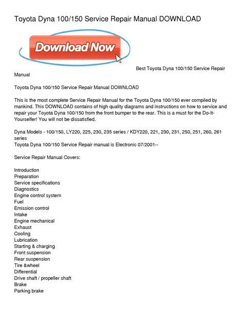 auto repair manual free download 2001 toyota echo interior lighting repair manual toyota dyna