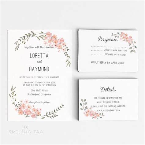 Hochzeit Layout Word | printable wedding invitation template floral wedding