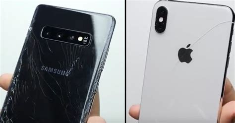 the iphone xs max beat the samsung galaxy s10 in drop tests here are the detailed results
