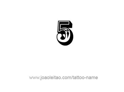 five 5 number tattoo designs page 2 of 4 tattoos with