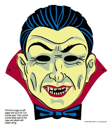 printable dracula mask 25 last minute traditional and downloadable halloween masks