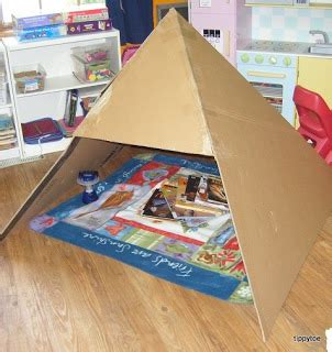 pyramid craft project tippytoe crafts dramatic play pyramid