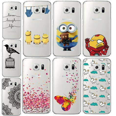 Casing Silicon Hardcase Samsung S5 S6 S6 Edge Bebas Motif 8 for samsung galaxy s6 edge g9250 minions butterfly silicone back cover tpu frame capa funda