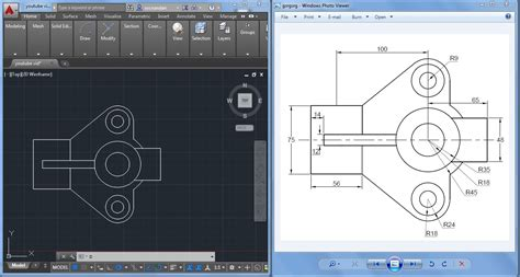 cad drawing 2d autocad practice drawing