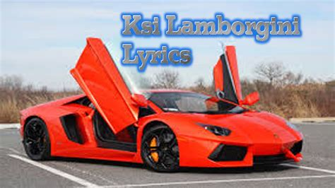 ksi lamborghini song lyrics
