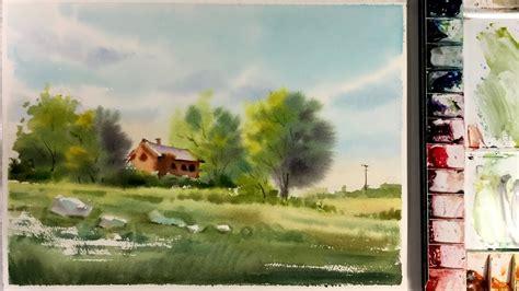 watercolor landscape painting techniques www pixshark